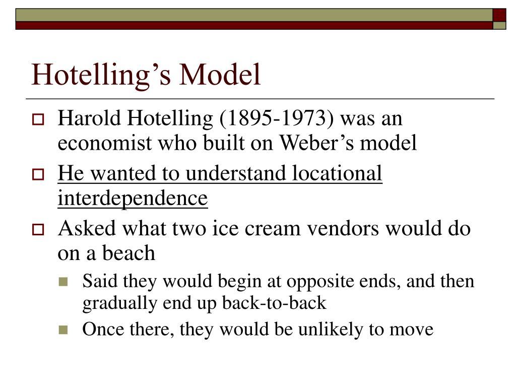 Hotelling's Model