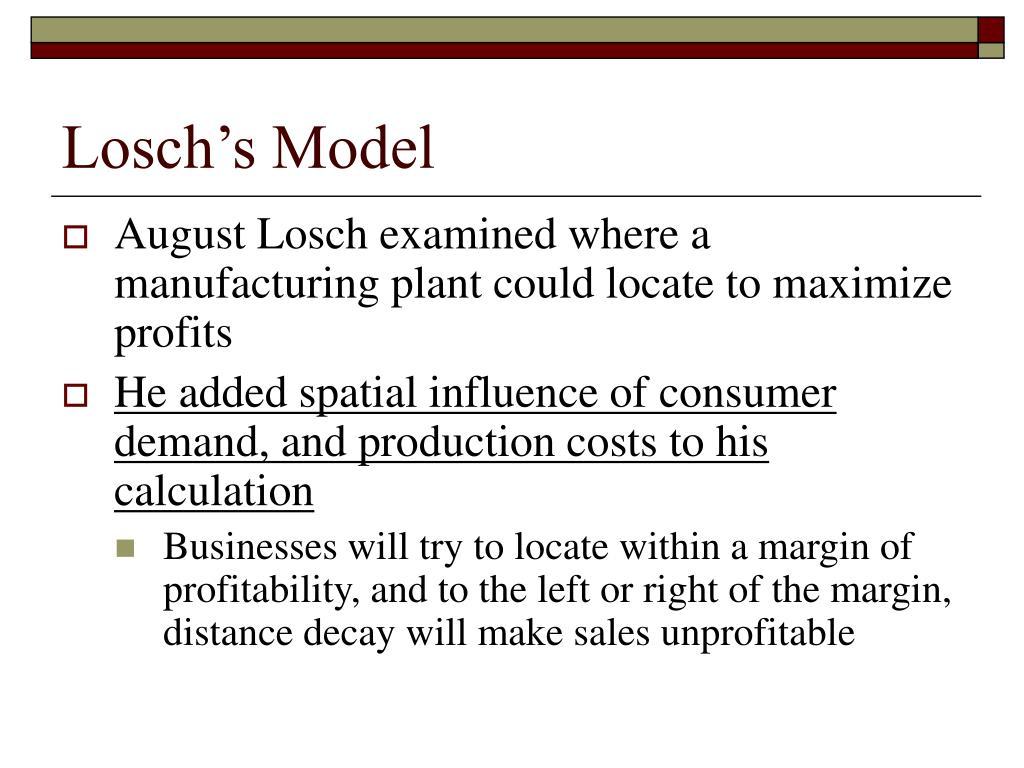 Losch's Model