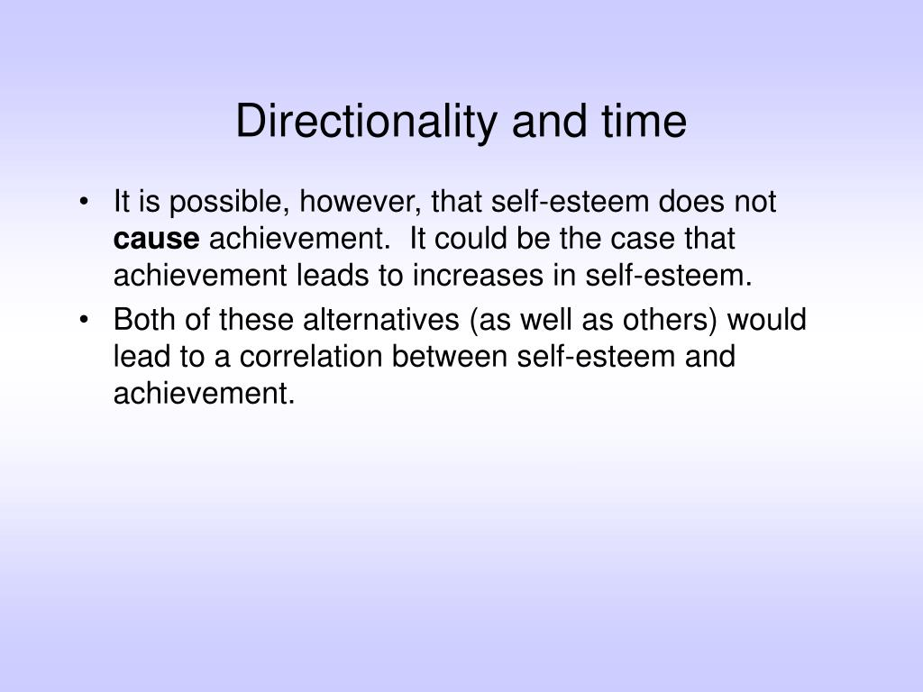 Directionality and time
