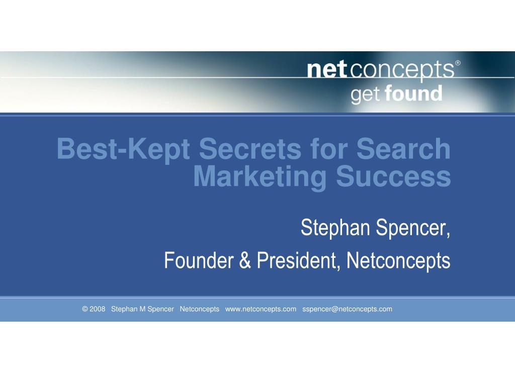 Best-Kept Secrets for Search Marketing Success