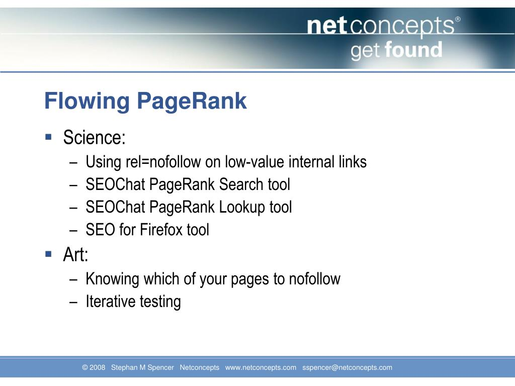 Flowing PageRank