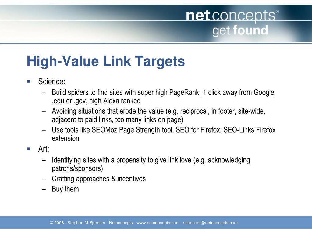 High-Value Link Targets