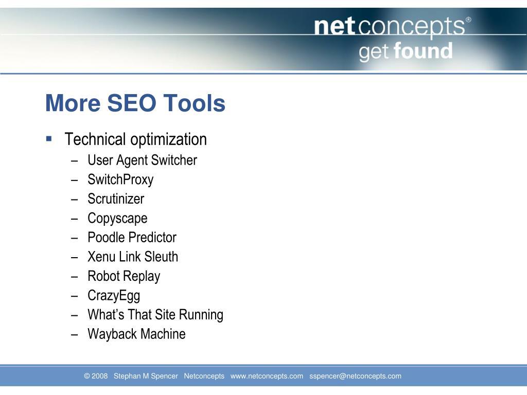 More SEO Tools