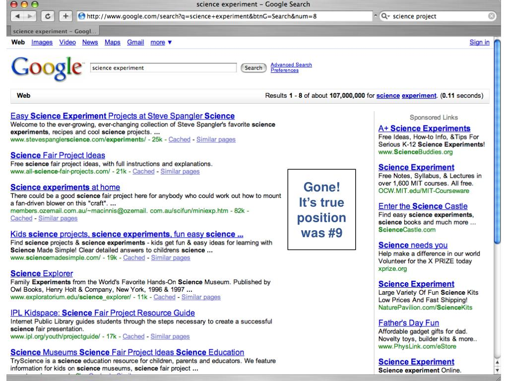 Gone! It's true position was #9
