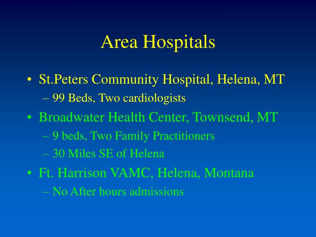 Area Hospitals