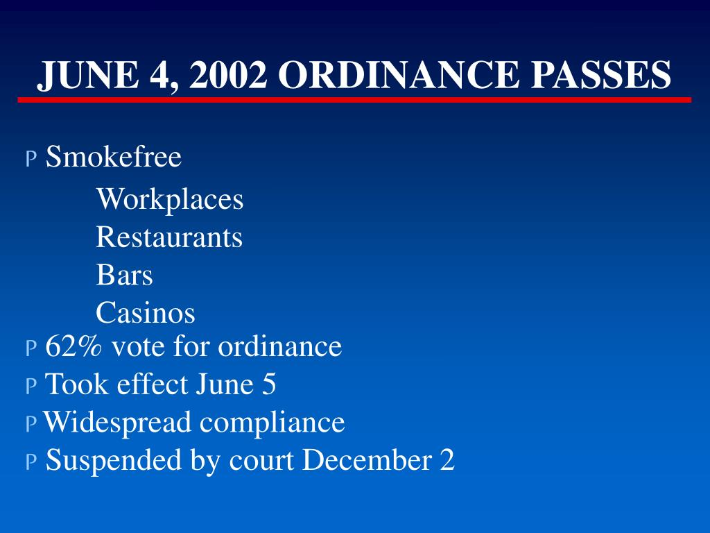 JUNE 4, 2002 ORDINANCE PASSES