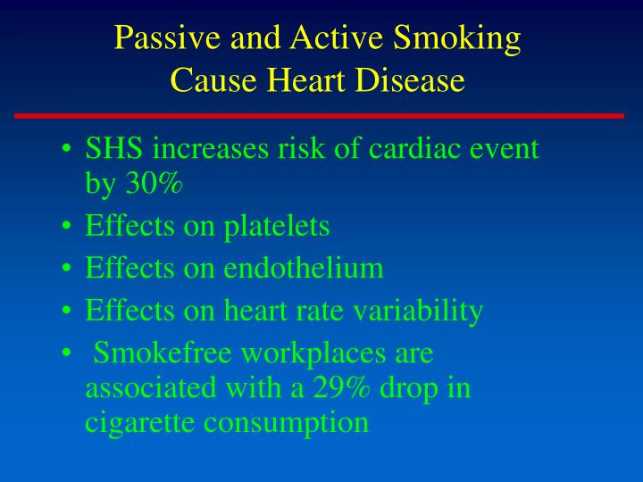 Passive and active smoking cause heart disease l.jpg