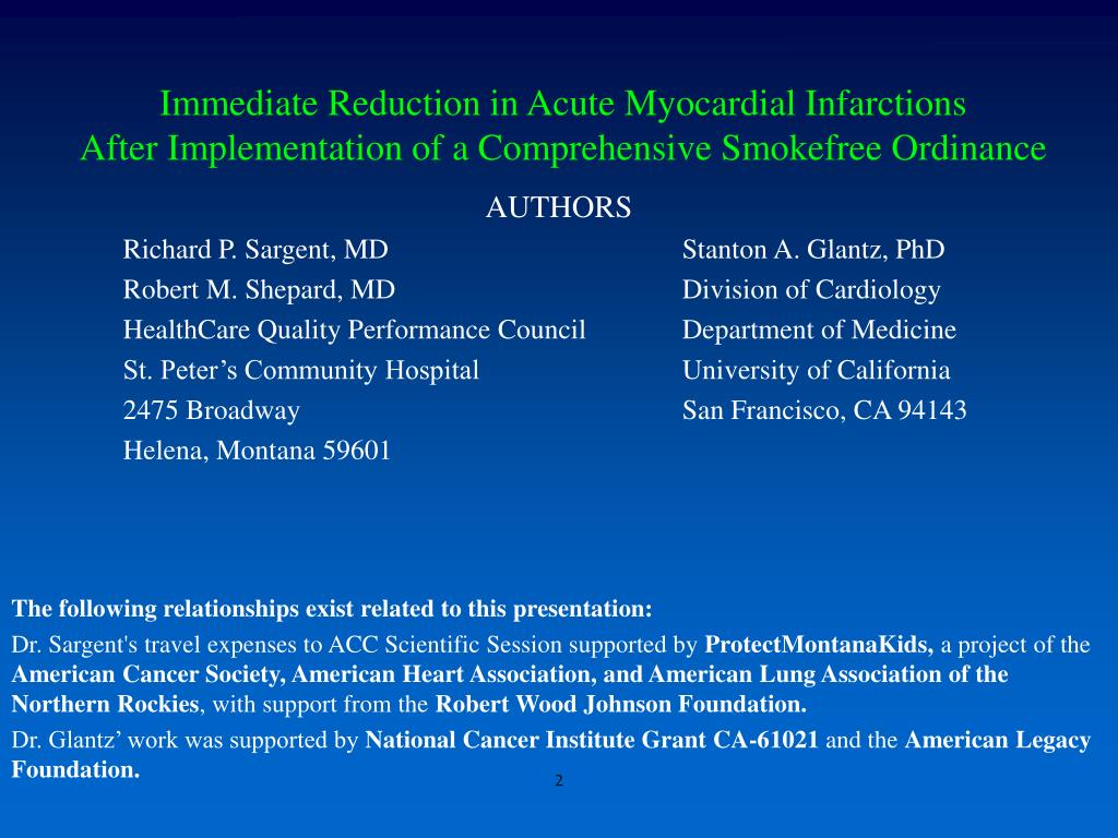 Immediate Reduction in Acute Myocardial Infarctions