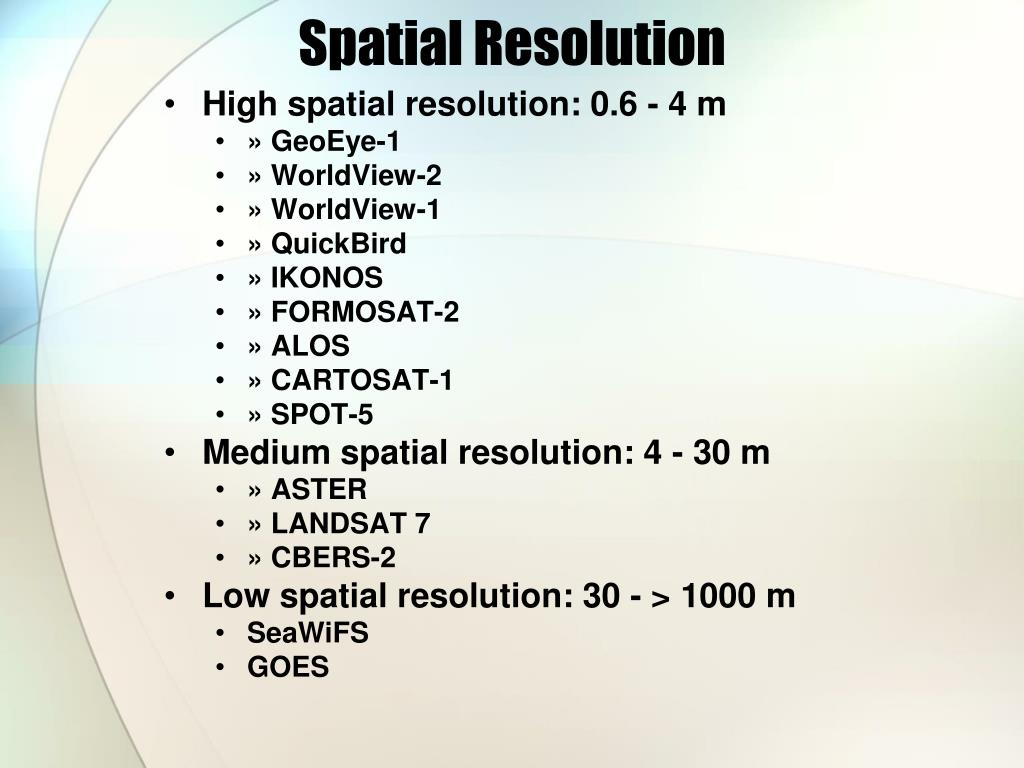 Spatial Resolution