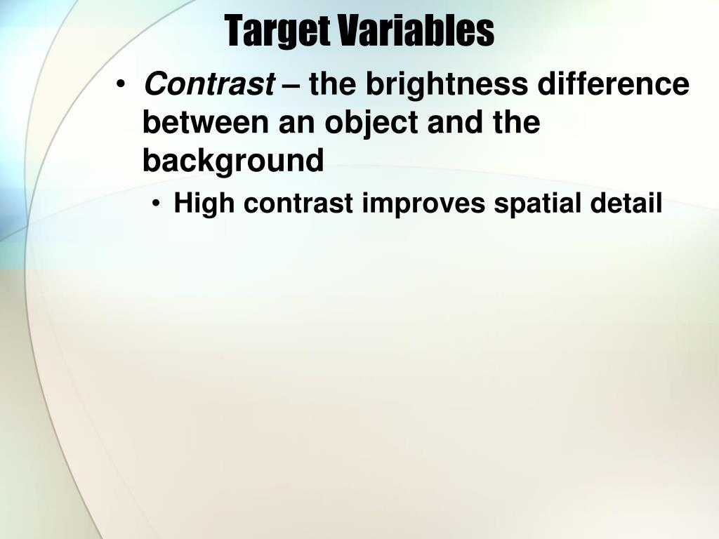Target Variables