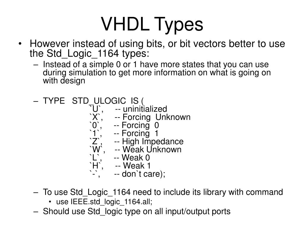VHDL Types
