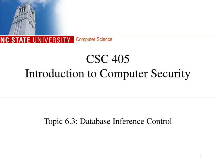 Csc 405 introduction to computer security l.jpg