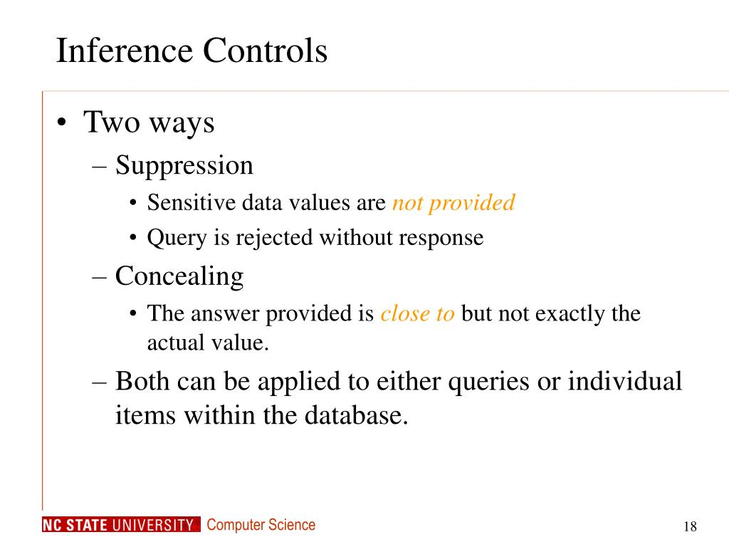 Inference Controls