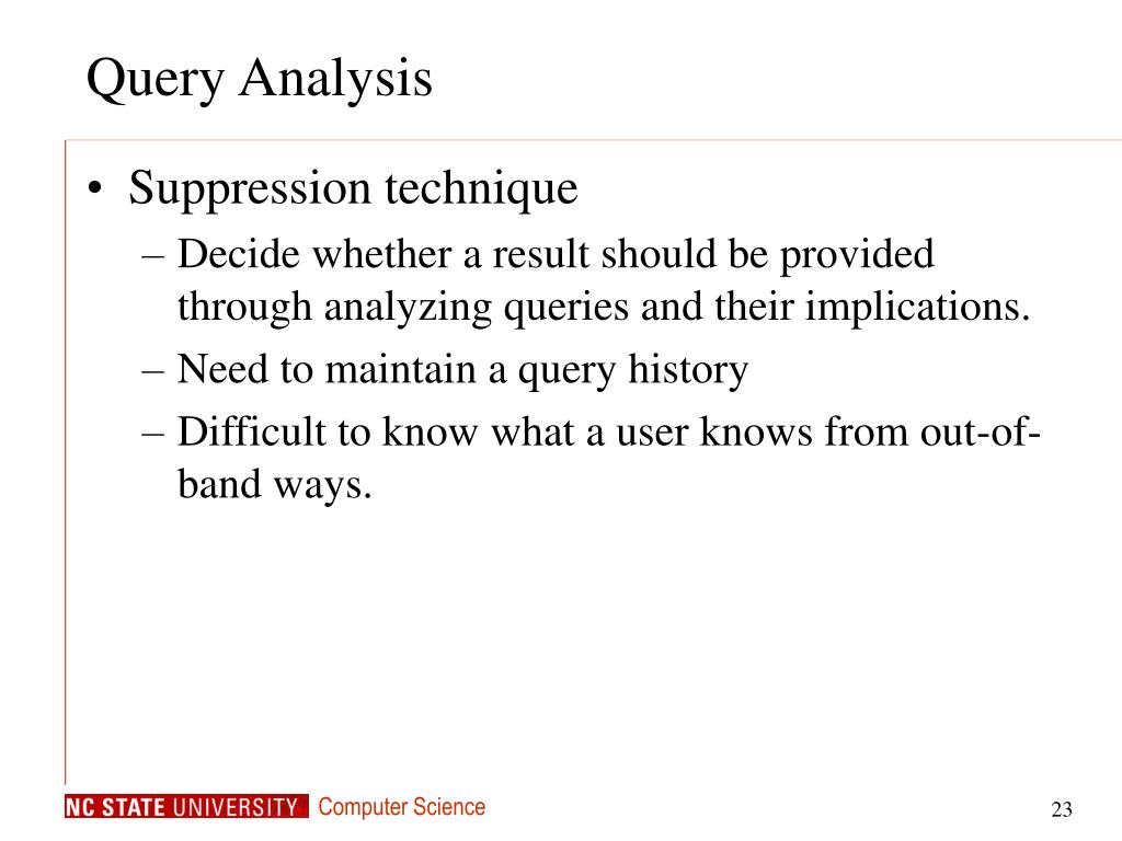 Query Analysis