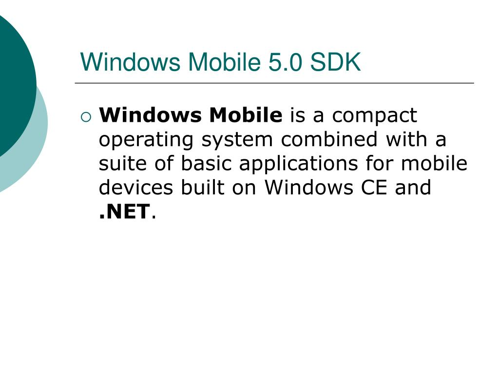 Windows Mobile 5.0 SDK