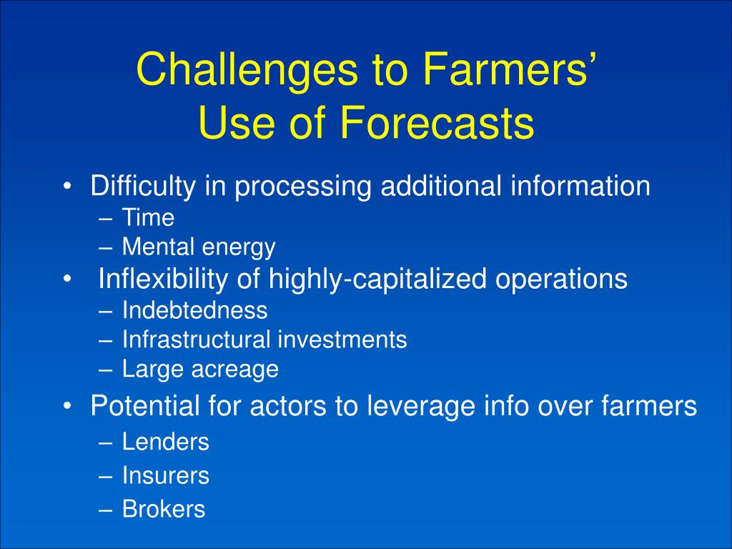 Challenges to Farmers'