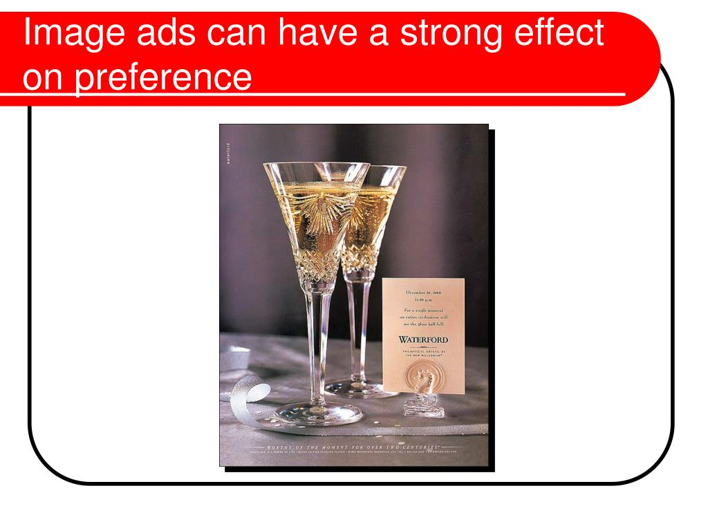 Image ads can have a strong effect on preference