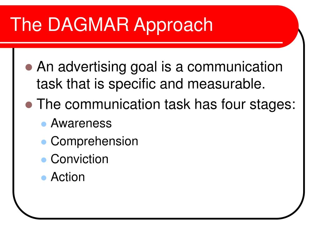 The DAGMAR Approach