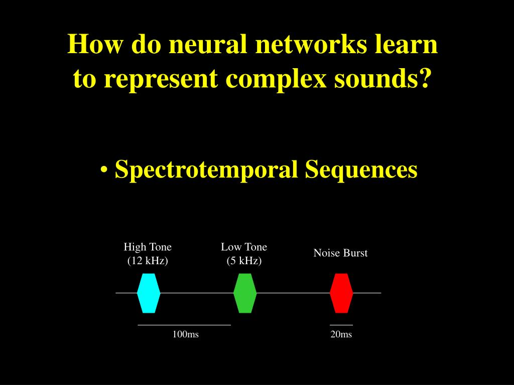 How do neural networks learn to represent complex sounds?