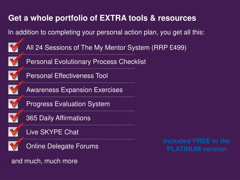 Get a whole portfolio of EXTRA tools & resources