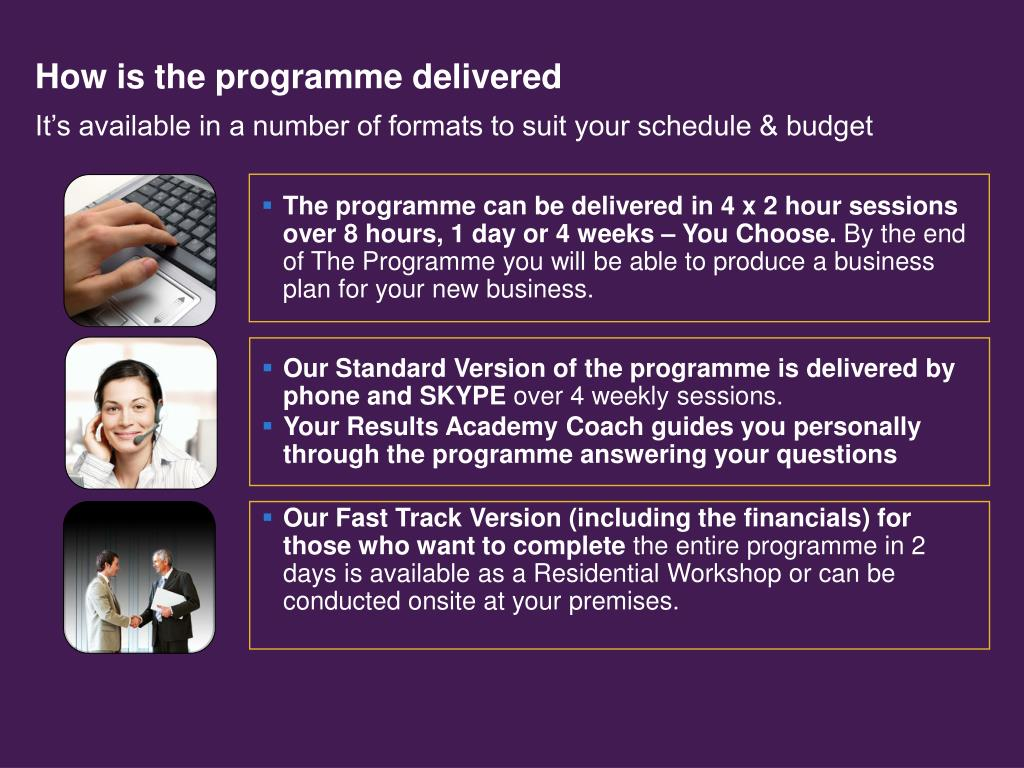 How is the programme delivered
