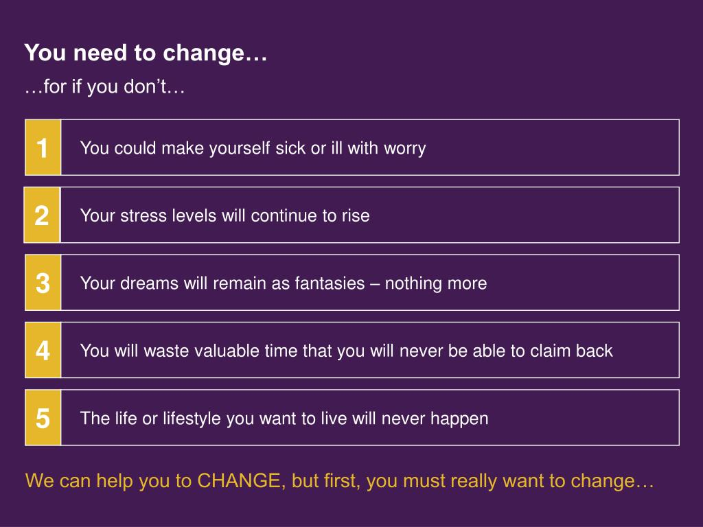You need to change…