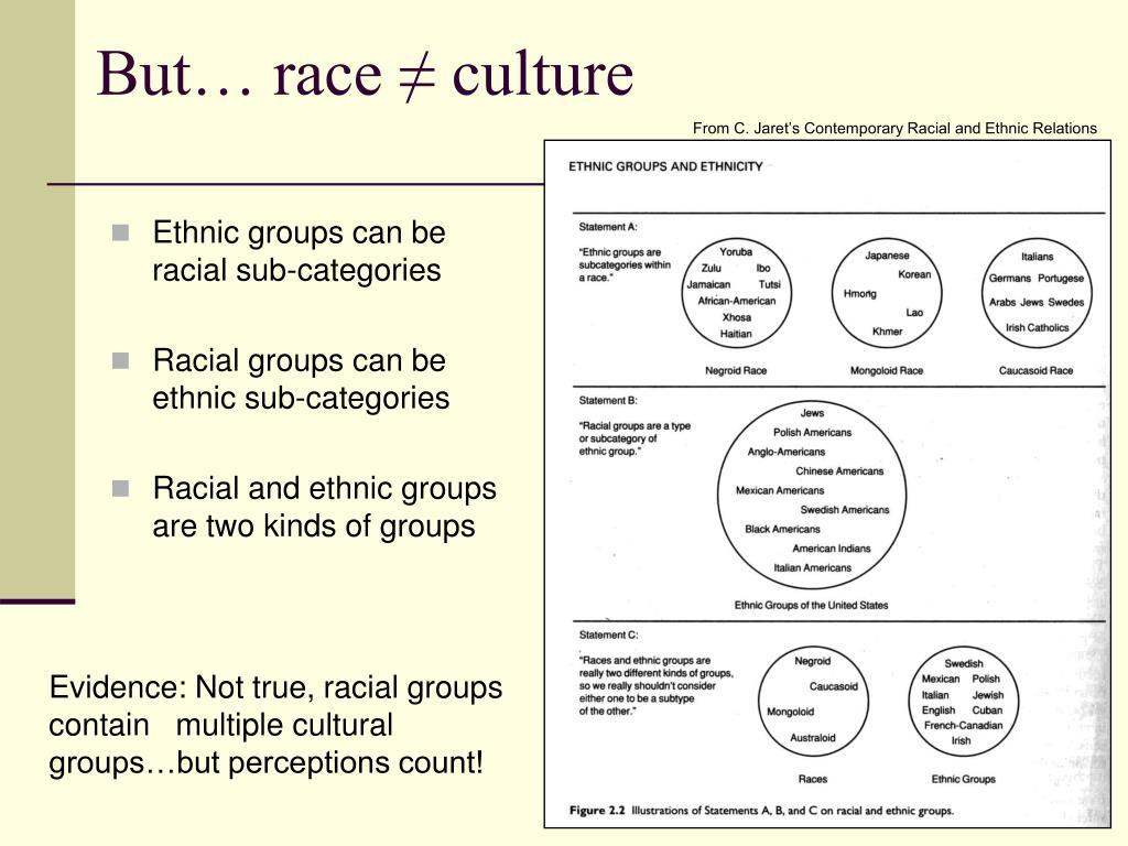 But… race ≠ culture