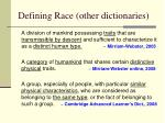 defining race other dictionaries