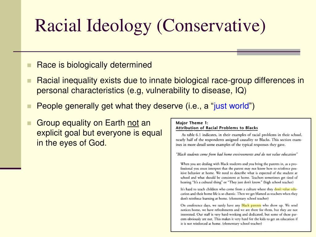 Racial Ideology (Conservative)