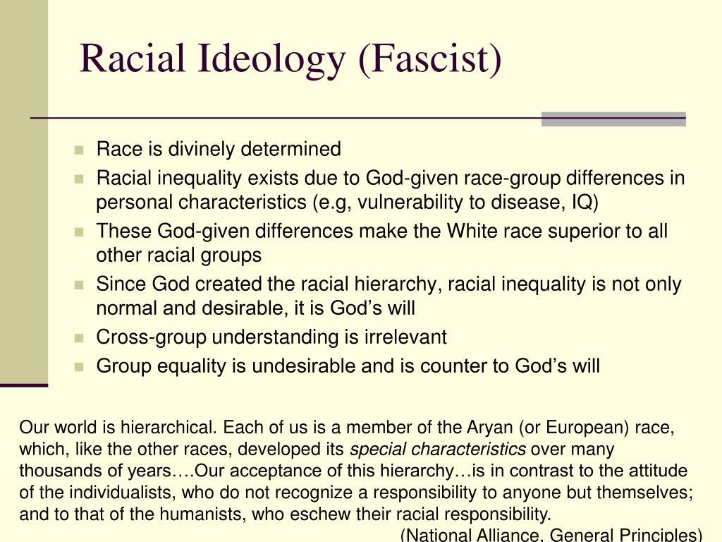 Racial Ideology (Fascist)