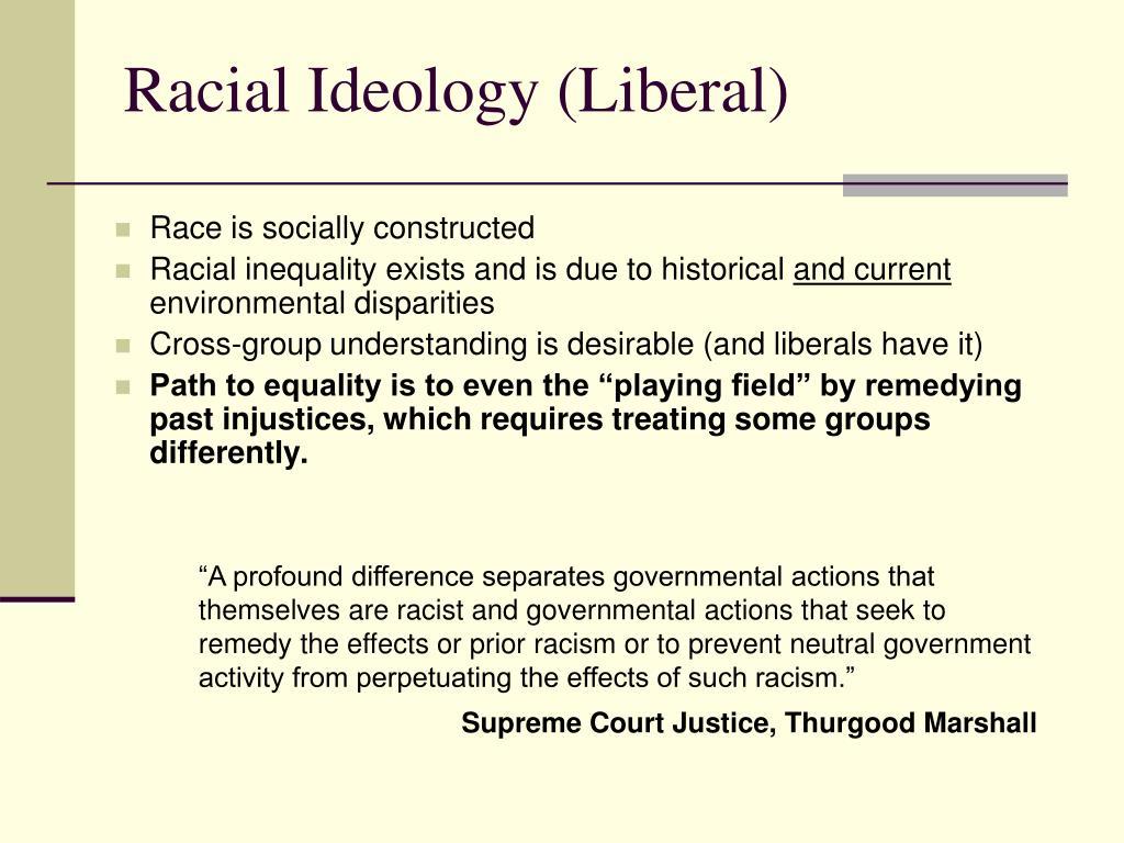 Racial Ideology (Liberal)