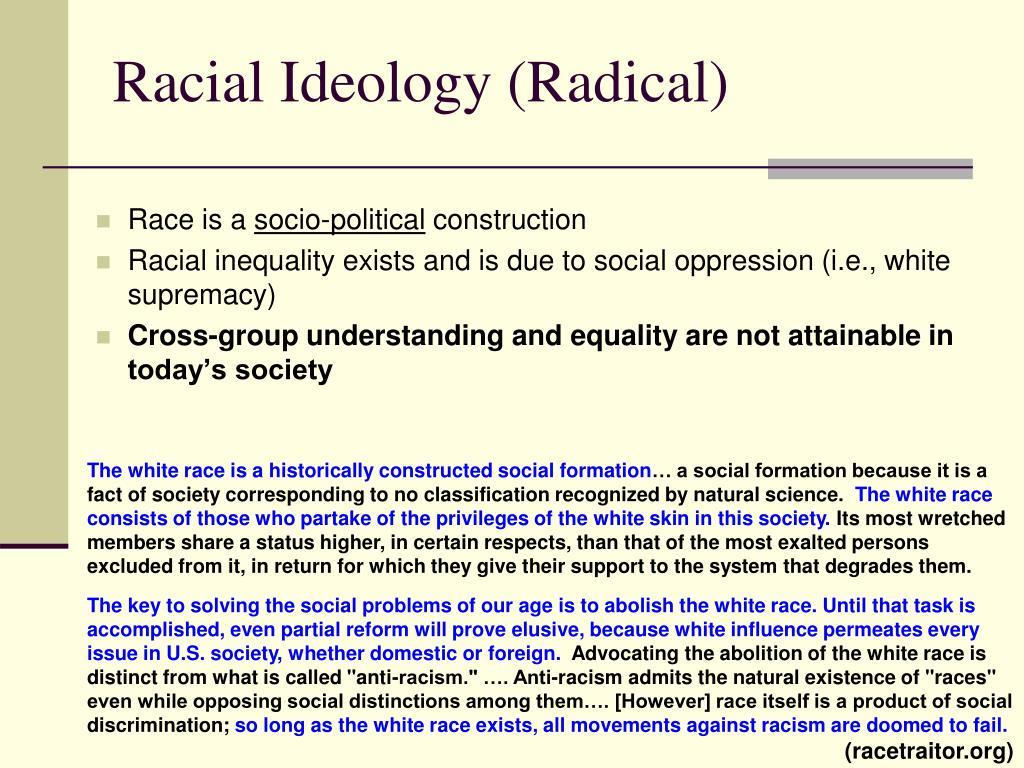 Racial Ideology (Radical)