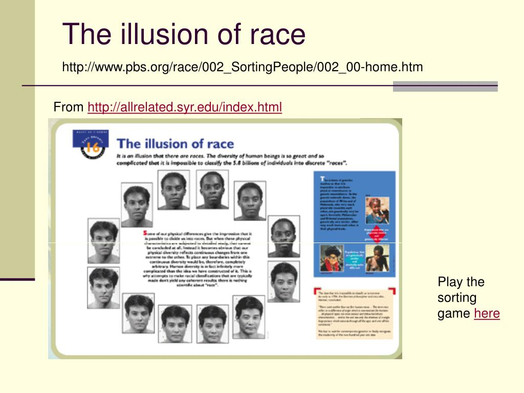 The illusion of race