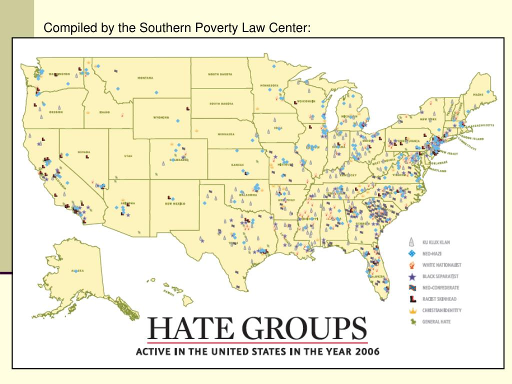 Compiled by the Southern Poverty Law Center: