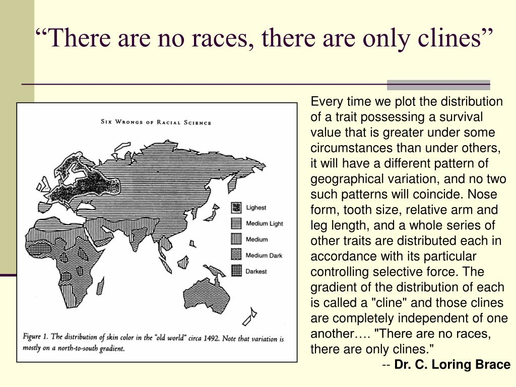 """There are no races, there are only clines"""