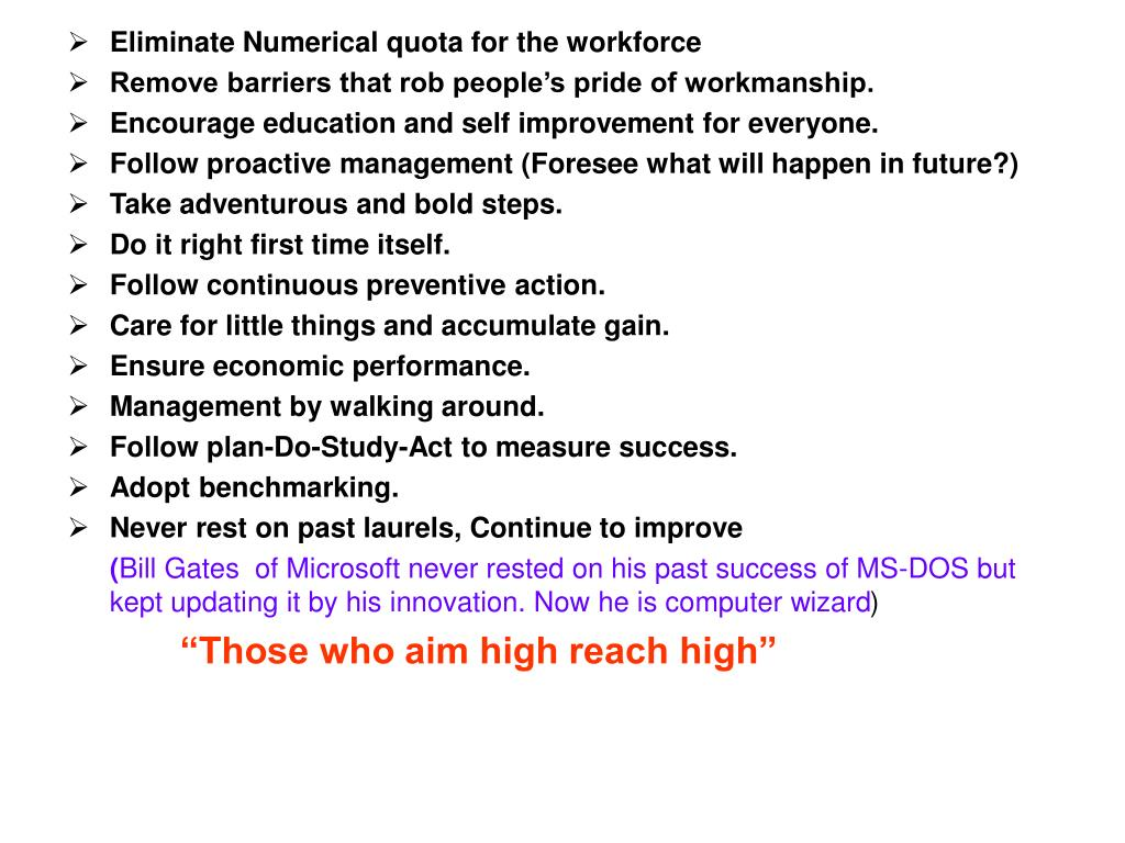 Eliminate Numerical quota for the workforce