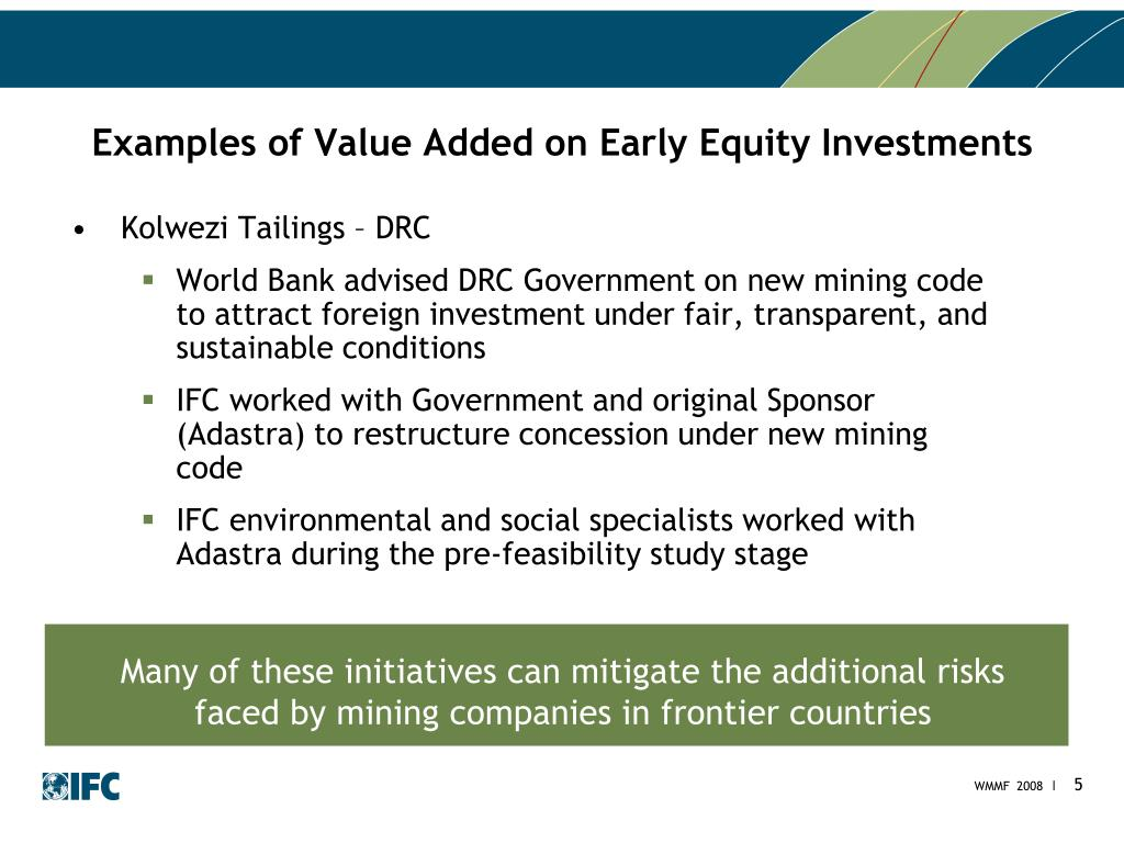 Examples of Value Added on Early Equity Investments
