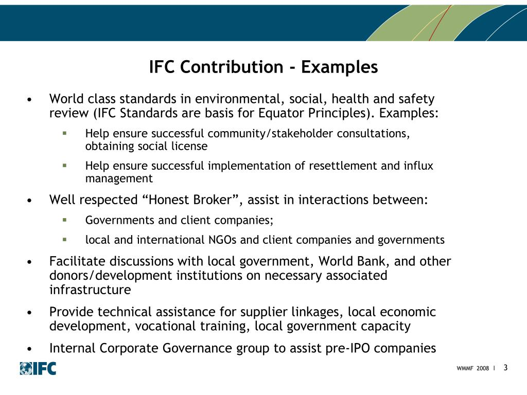 IFC Contribution - Examples