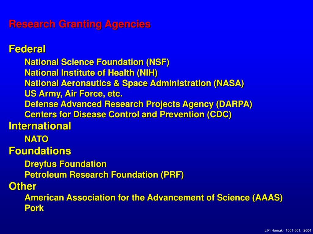 Research Granting Agencies