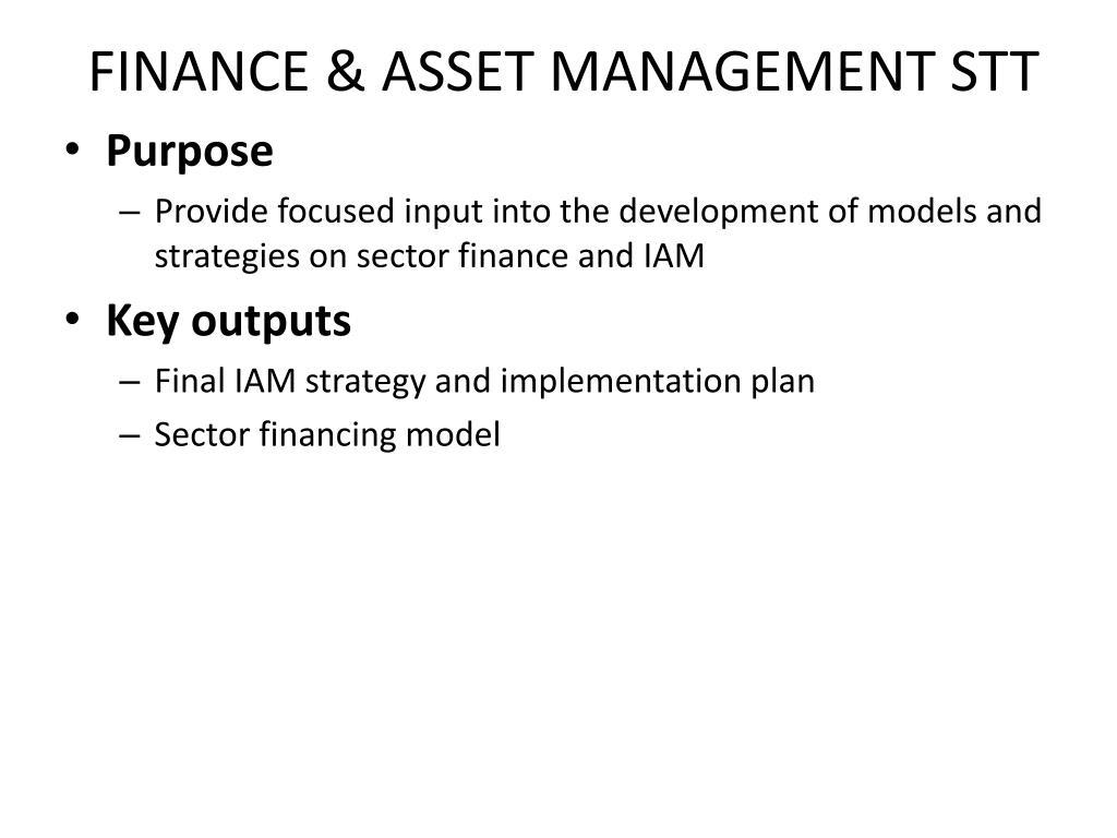 FINANCE & ASSET MANAGEMENT STT