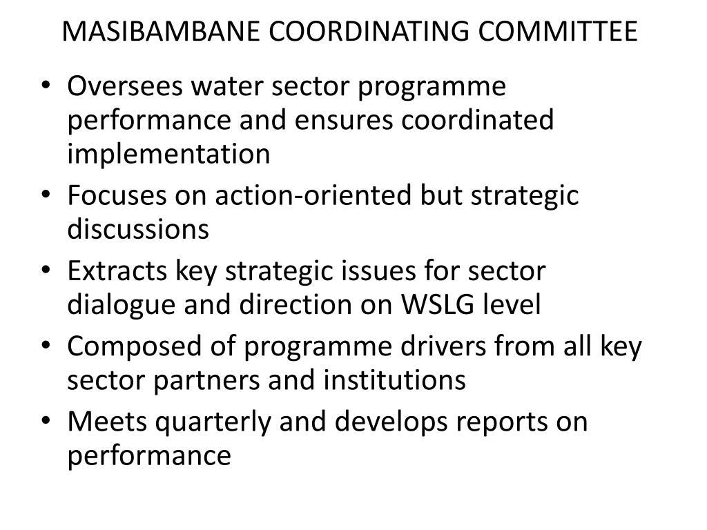 MASIBAMBANE COORDINATING COMMITTEE