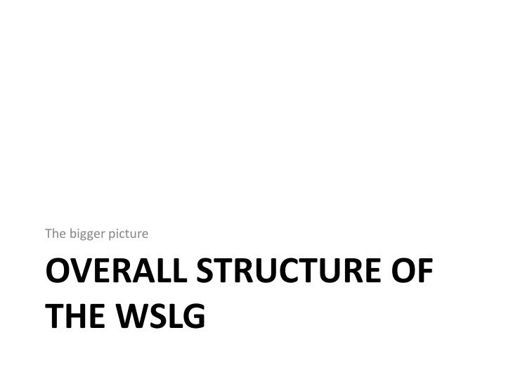 Overall structure of the wslg l.jpg