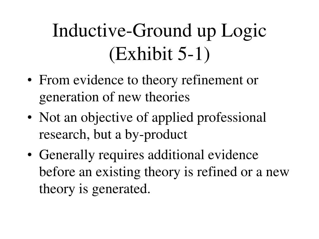 Inductive-Ground up Logic