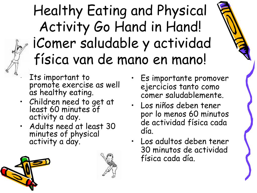 Its important to promote exercise as well as healthy eating.