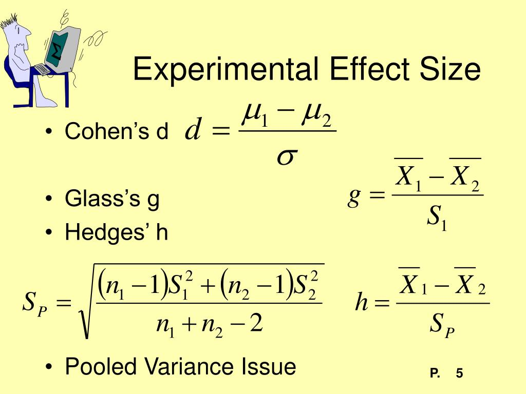 Experimental Effect Size