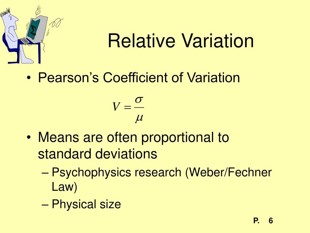 Relative Variation