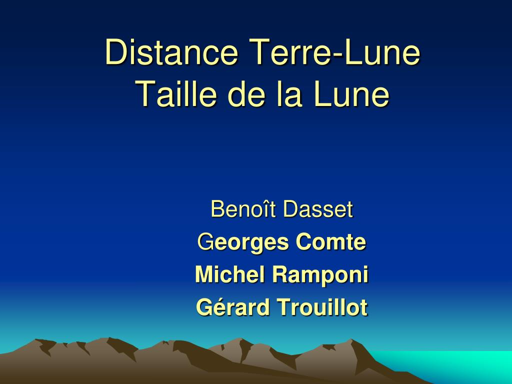 Distance Terre-Lune