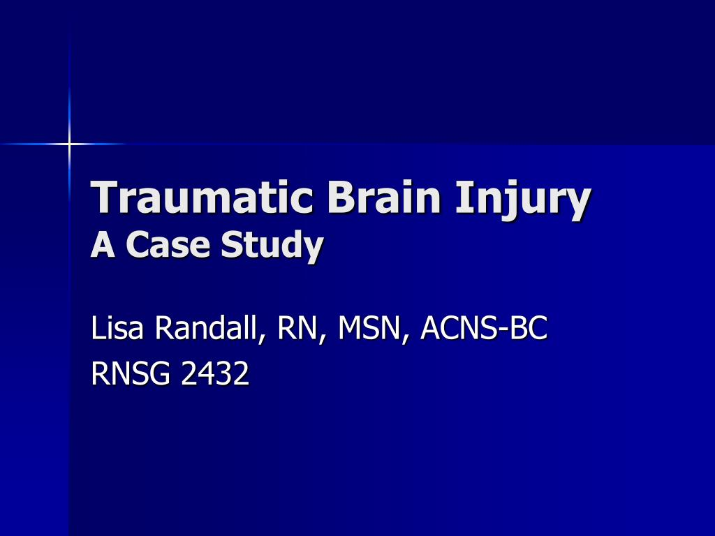 Case study of head injury (disorder of memory) Flashcards ...