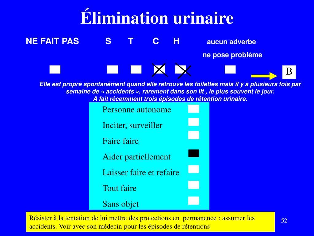 Élimination urinaire