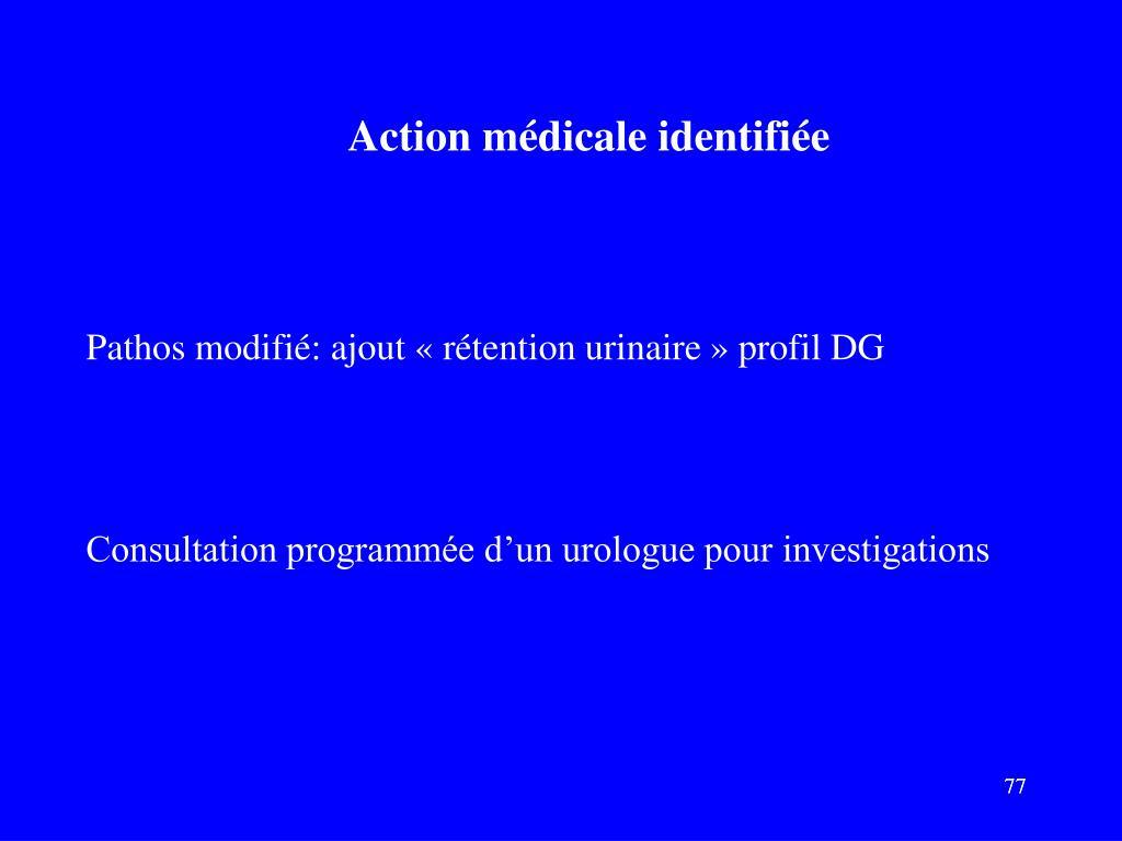 Action médicale identifiée